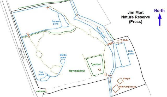 Jim Mart Nature Reserve Map